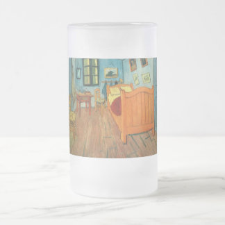 Bedroom in Arles by Vincent Van Gogh Frosted Glass Beer Mug