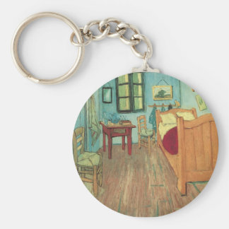 Bedroom in Arles by Vincent van Gogh Basic Round Button Keychain