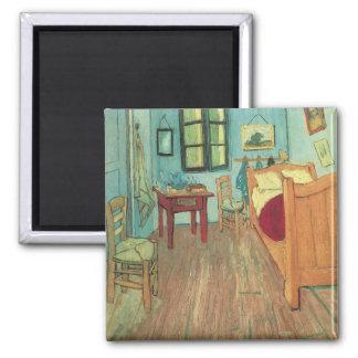 Bedroom in Arles by Vincent van Gogh 2 Inch Square Magnet