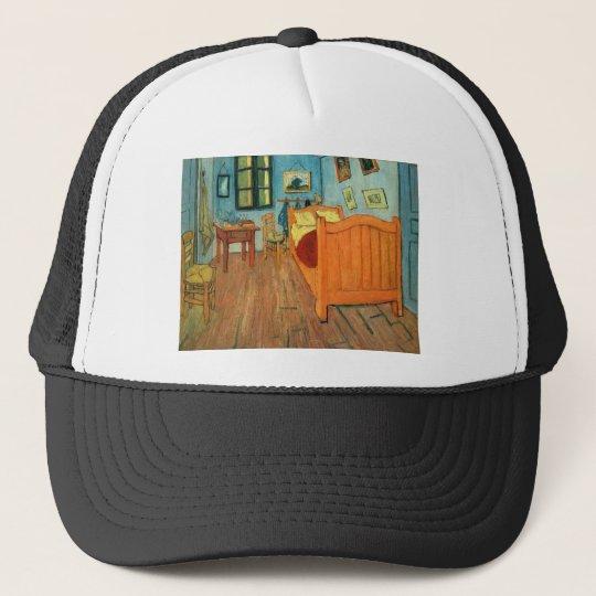 Bedroom in Arles by Vincent Van Gogh Trucker Hat