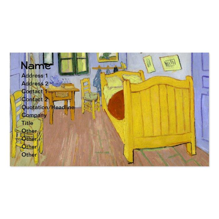 Bedroom in arles f482 van gogh fine art business card for Bedroom in arles