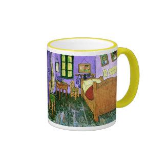 Bedroom in Arles (F483) Van Gogh Fine Art Ringer Mug