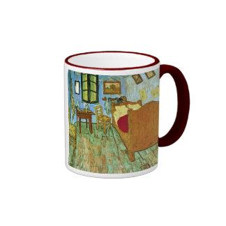 Bedroom in Arles (F484) Van Gogh Fine Art Ringer Mug