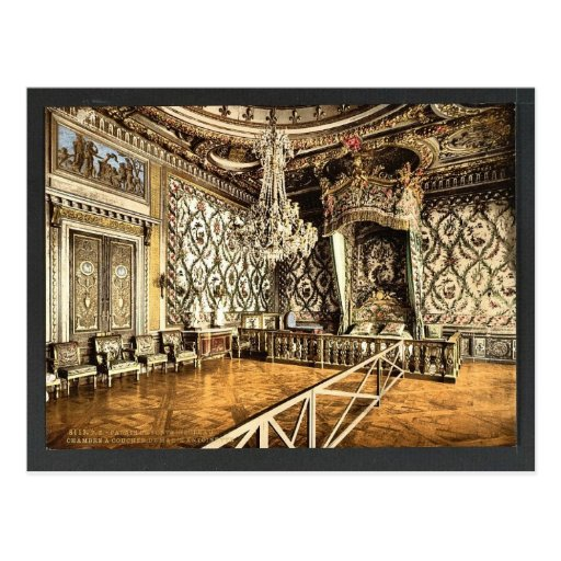 Bedroom of Marie Antoinette, Fontainebleau Palace, Postcards