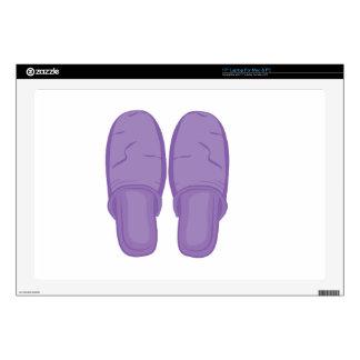 """Bedroom Slippers 17"""" Laptop Skins"""