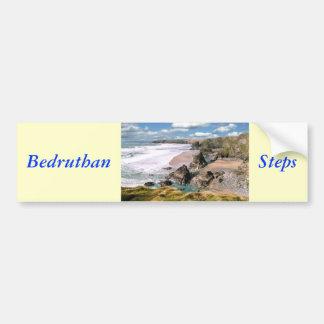 Bedruthan Steps, Cornwall Bumper Sticker