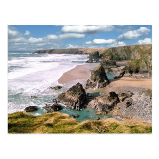 Bedruthan Steps, Cornwall Post Card