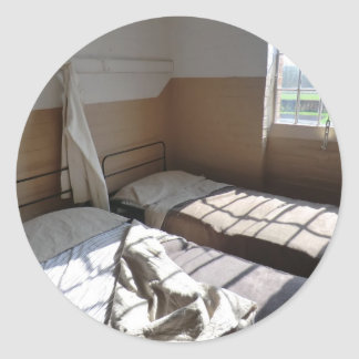 Beds at Southwell Workhouse Classic Round Sticker
