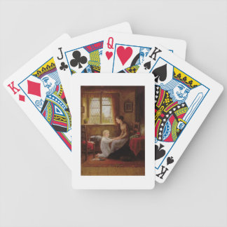 Bedtime, 1890 (oil on panel) bicycle playing cards