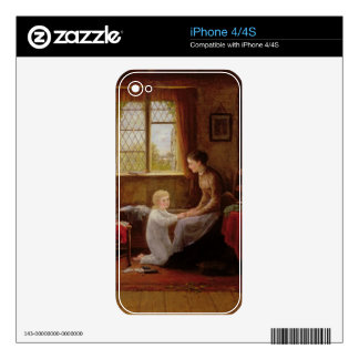 Bedtime, 1890 (oil on panel) decal for iPhone 4