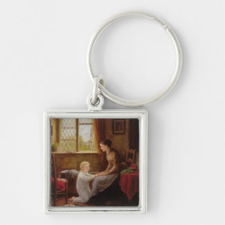 Bedtime, 1890 (oil on panel) keychains