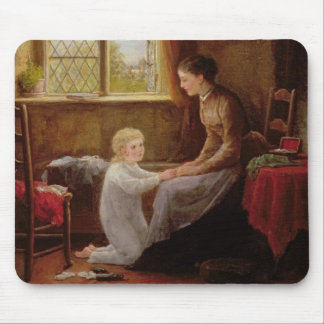 Bedtime, 1890 (oil on panel) mouse pad