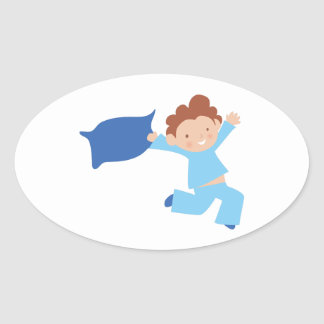 Bedtime Boy Oval Sticker