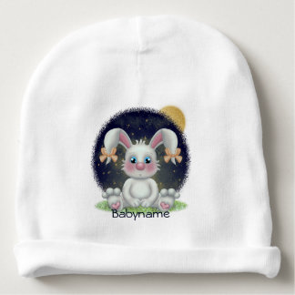 Bedtime Bunny Personalized Baby Beanie