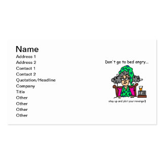 Bedtime Humor Double-Sided Standard Business Cards (Pack Of 100)