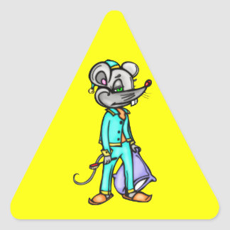 Bedtime Mouse Triangle Sticker