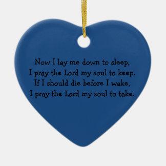 Bedtime Prayer Now I Lay Me Down to Sleep Ceramic Ornament