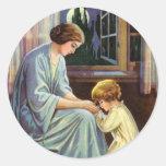 Bedtime Prayer Round Sticker