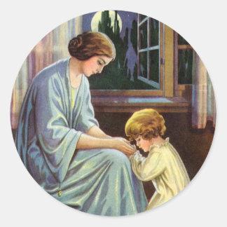 Bedtime Prayer Classic Round Sticker