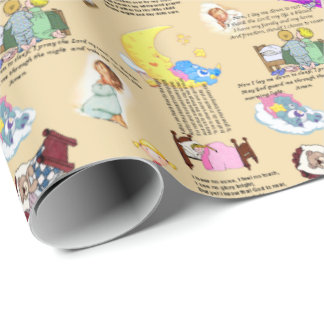 Bedtime Prayers Wrapping Paper