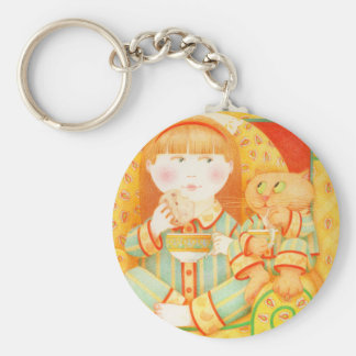 Bedtime Snack Button Keychain