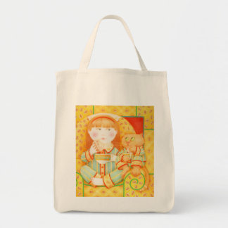 Bedtime Snack Organic Grocery Tote Grocery Tote Bag
