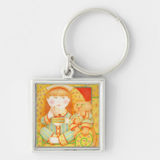 Bedtime Snack Small Premium Square Keychain