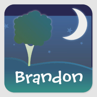 Bedtime Square Sticker