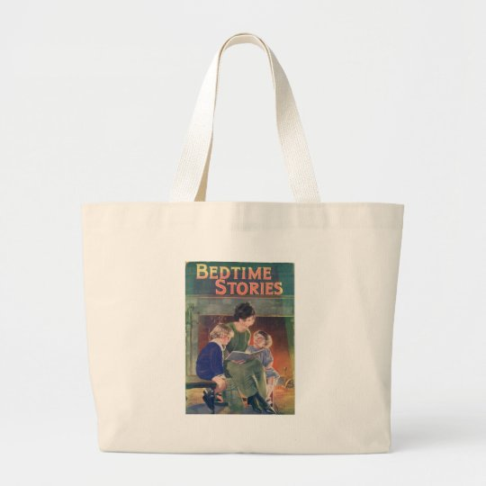 Bedtime Stories Large Tote Bag