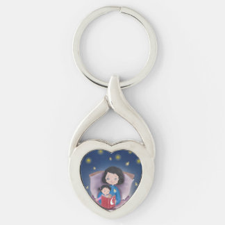 Bedtime stories metal key ring keychain
