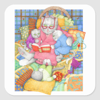 """Bedtime Story 1.5"""" Square Stickers"""