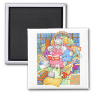 """Bedtime Story 2"""" Square Magnet"""
