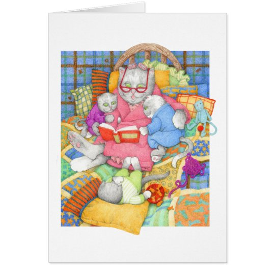 Bedtime Story BLANK Note Card