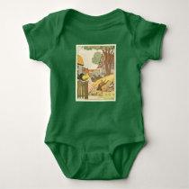 Bedtime Story Farm Animals Baby Bodysuit