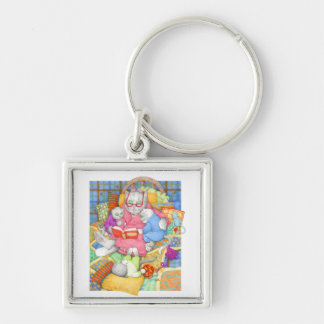 Bedtime Story Small Premium Square Keychain