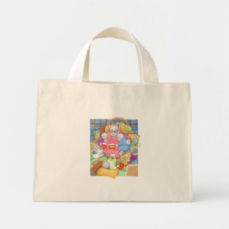 Bedtime Story Tiny Tote Canvas Bags