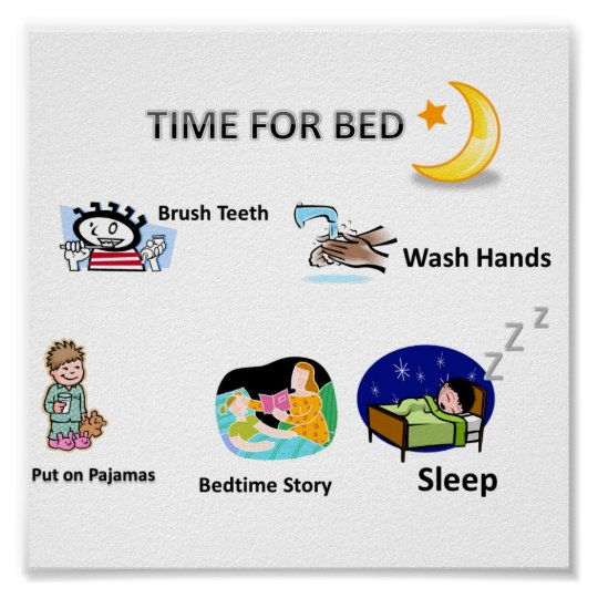 Bedtime Visual Picture schedule used by our loved Poster