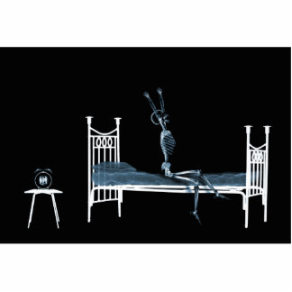 Bedtime X-Ray Skeleton Black Blue Photo Cut Out