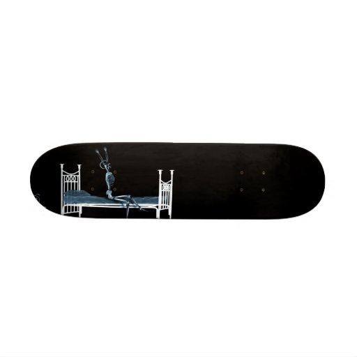 Bedtime X-Ray Skeleton Black Blue Skate Board Decks