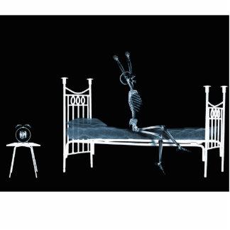 Bedtime X-Ray Skeleton Black Blue Statuette