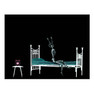 Bedtime X-Ray Skeleton Original Postcards