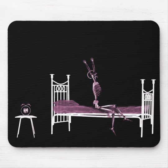 Bedtime X-Ray Skeleton Pink Mouse Pad