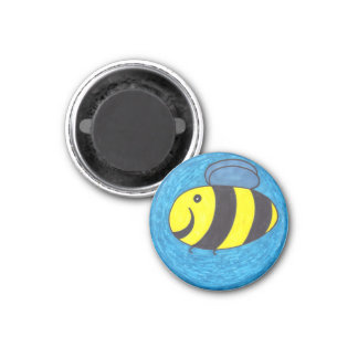 Bee! 1 Inch Round Magnet