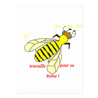 BEE 1.PNG POSTCARD
