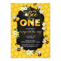Bee 1st Birthday Party Invitation - Bee Birthday