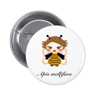 Bee 2 Inch Round Button