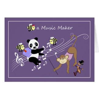 Bee a Music Maker Fun Animals Card