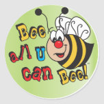 Bee All You Can Bee Classic Round Sticker