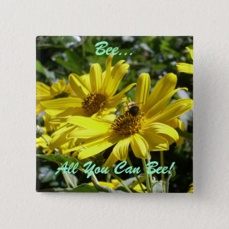 Bee, All You Can Bee! Pinback Button