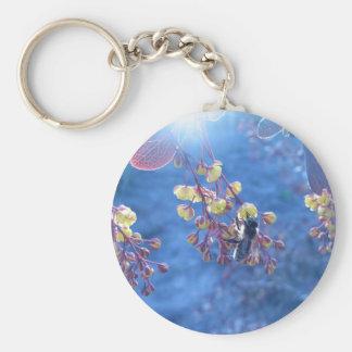 Bee and Berberis Flowers Keychain